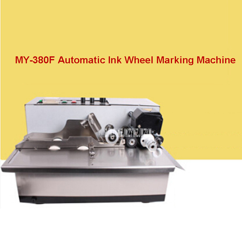 New MY-380F Ink Wheel Coding Machine Ink Wheel Marking Machine Automatically Continuous Marking Machine 180W 220V/110V 50Hz/60Hz