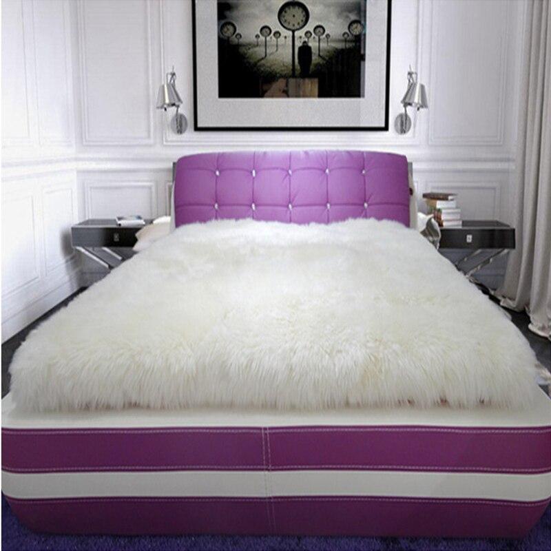 Tapis en peau de mouton blanc vraie couverture de fourrure tapis et tapis authentiques pour salon tapis de fourrure blanc couverture de fourrure tapis de sol chambre