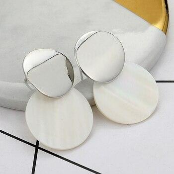 Boucles d'oreilles pour femmes en forme de goutte en métal