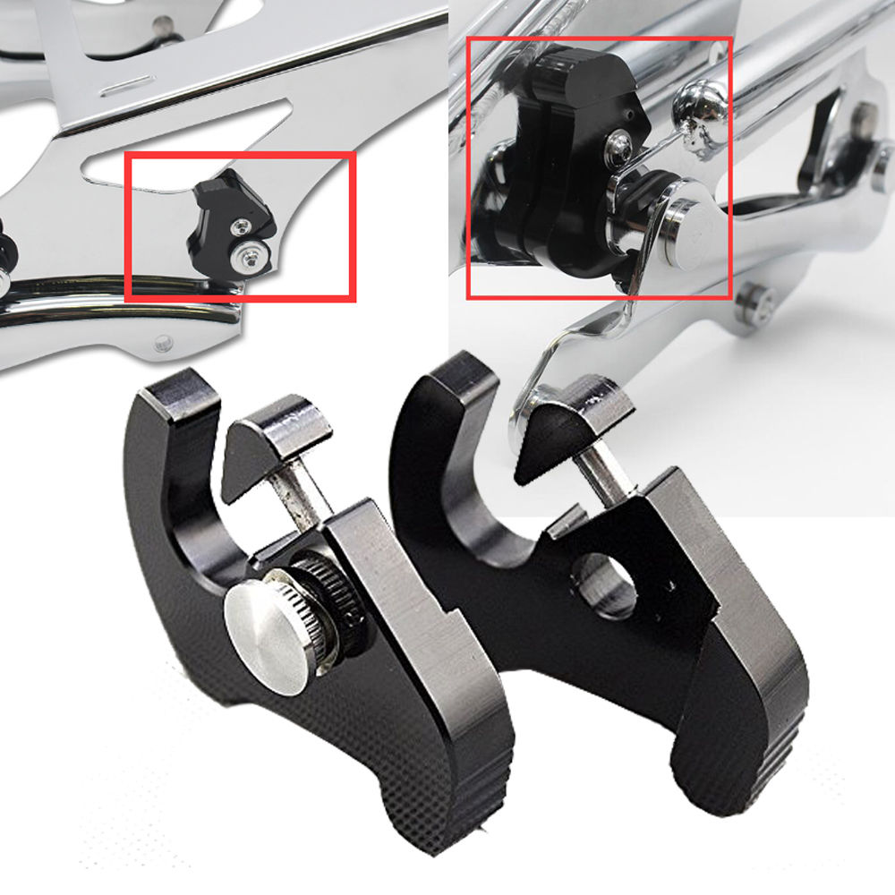 Detachable Rotary Luggage Rack Docking Latch Clips For Harley Electra Tour Glide Electra Road Street Glide Road King Softail partol black car roof rack cross bars roof luggage carrier cargo boxes bike rack 45kg 100lbs for honda pilot 2013 2014 2015