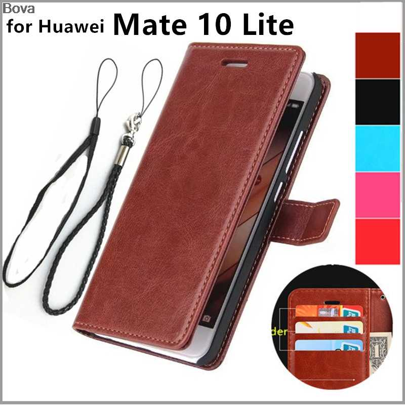 "card holder cover case for Huawei Ascend Mate 10 Lite 5.9"" leather phone case wallet flip cover Quality Holster"
