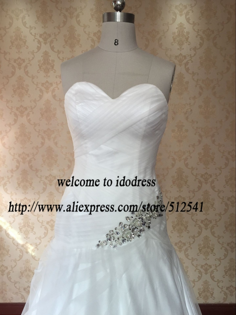 Aliexpress Under 100 2016 Spring New Sweetheart Soft Organza Pleats Ruches Vintage Wedding China White Bridal Gown Sy5970 From