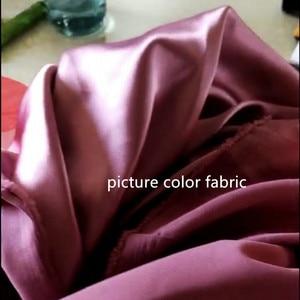 Image 5 - One Shoulder Side Slit Floor Length Elastic Satin Mermaid Bridesmaid Gowns Cheap Satin Bridesmaid Dresses