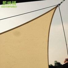 5 x 5 x 7 M/pcs Customized Triangular Shade Sail combination Waterproof Polyester fabrice for garden Patio sun shade
