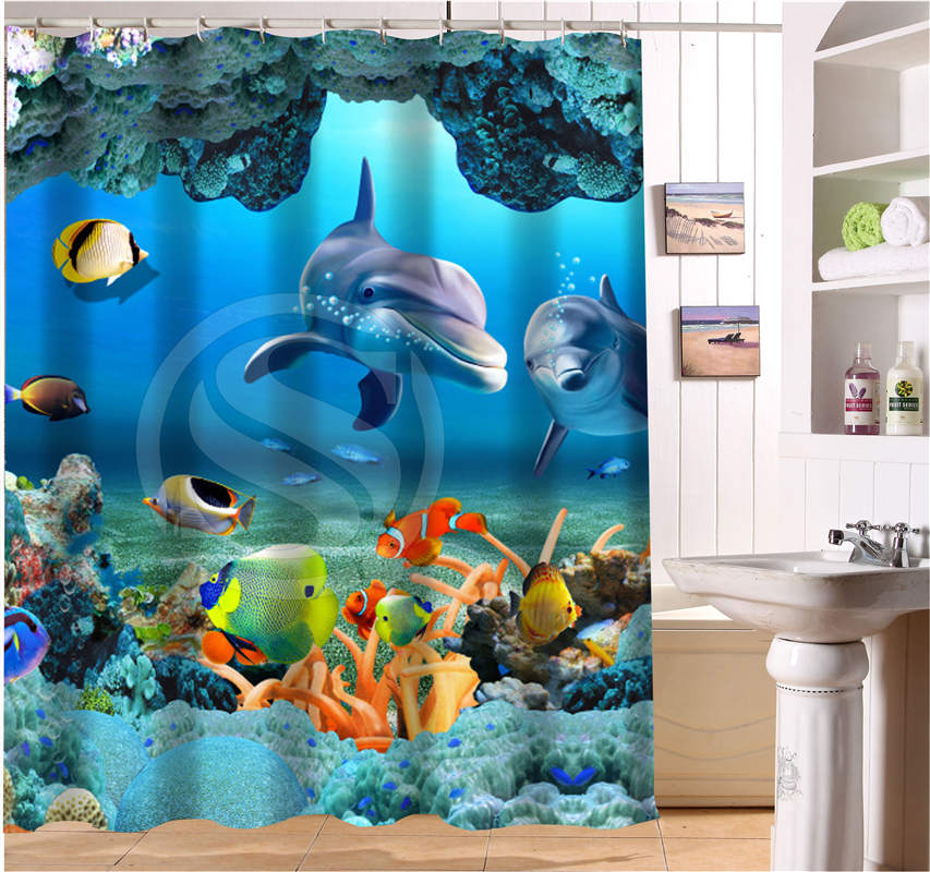 Underwater Shower Curtains - Window Curtains & Drapes