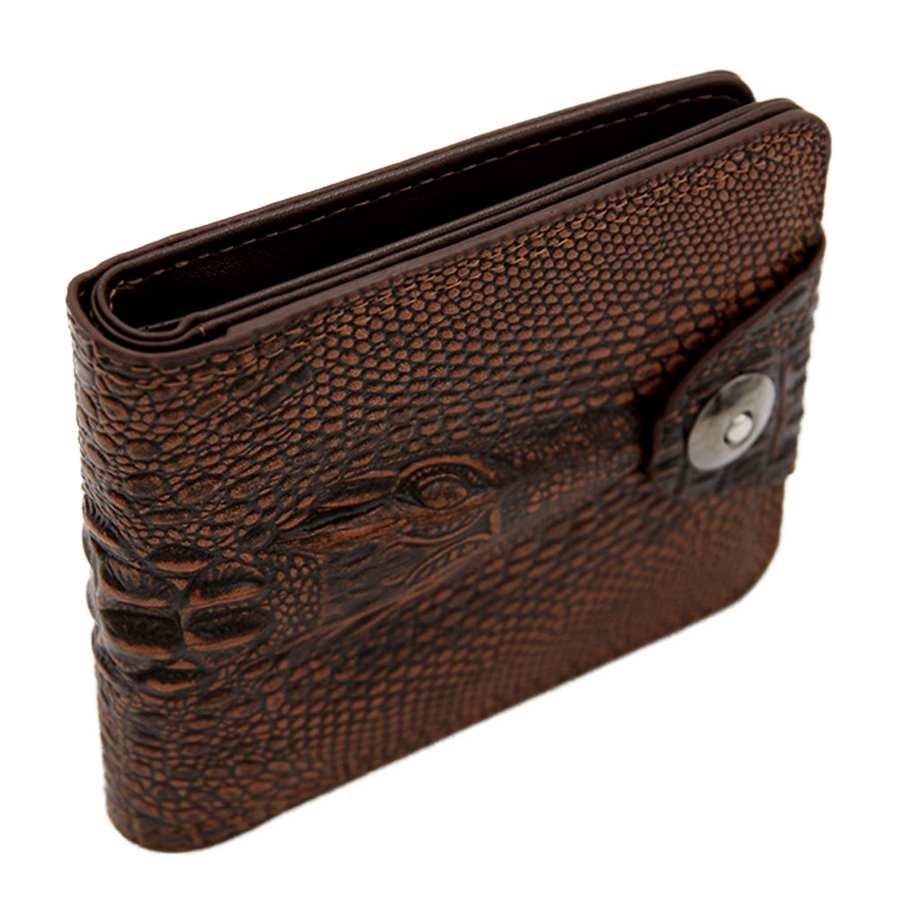 Men Wallet Purse Magnetic Card-Holder Multi-Pocket Bifold Fashion Gift Classic Buckle