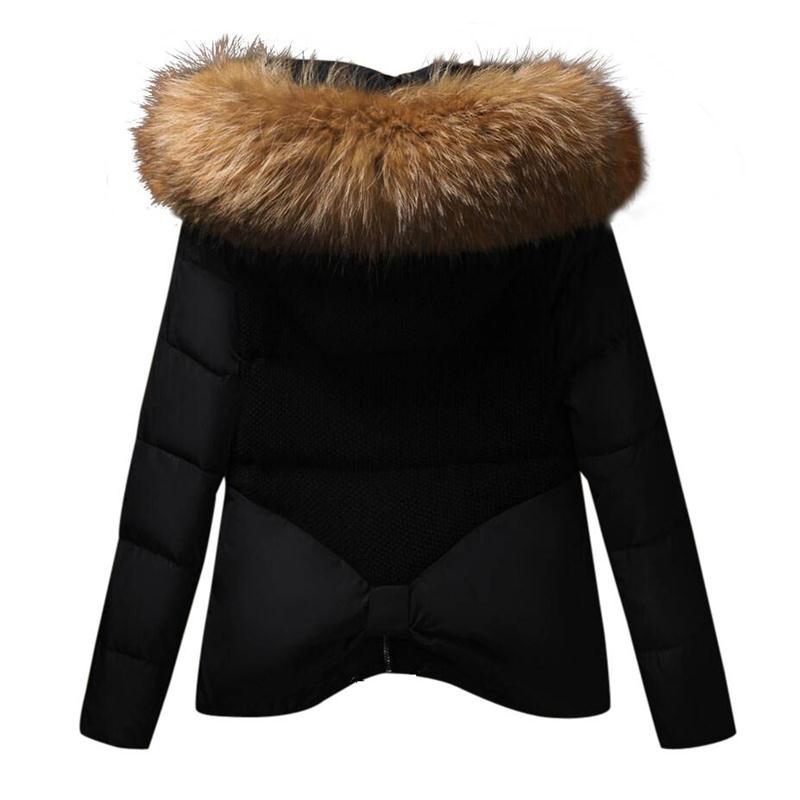 2019 New female Jacket winter Fashion Women Winter Coat real Raccoon Fur Collar Warm Outerwear Thicken