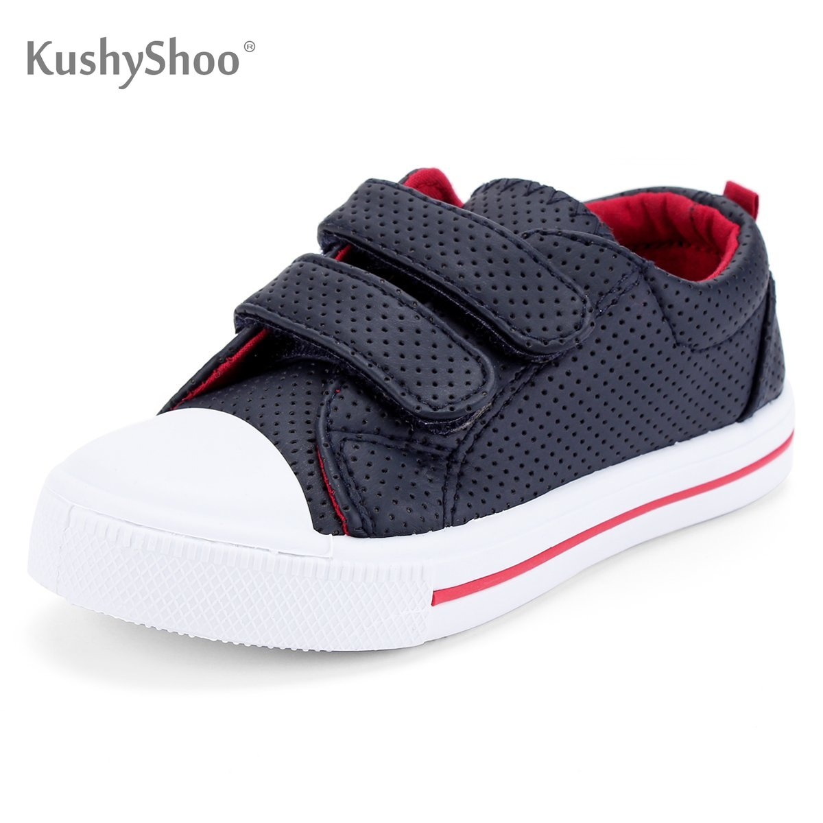 KushyShoo Toddler Sneakers For Boys And Girls Cartoon Dual Hook And Loops Sneakers Baby Canvas Shoes