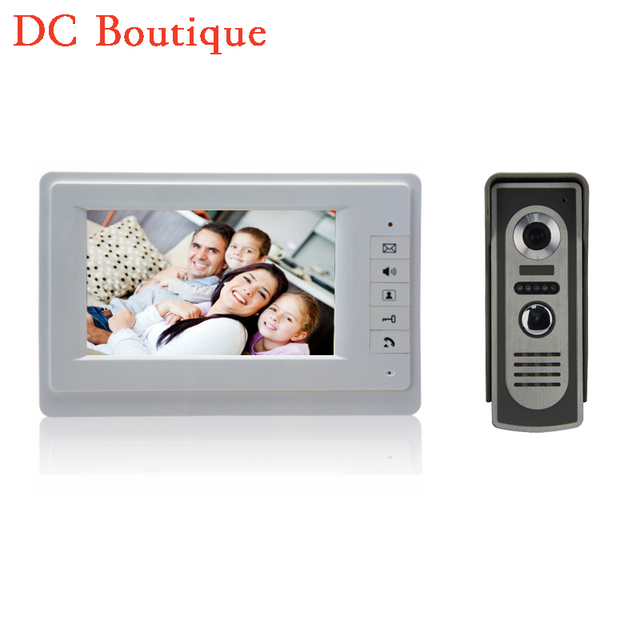 (1 set) 7`` TFT Color Video door phone Intercom Doorbell System Kit IR Camera doorphone monitor Speakerphone intercom