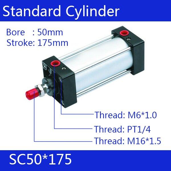 ФОТО SC50*175 50mm Bore 175mm Stroke SC50X175 SC Series Single Rod Standard Pneumatic Air Cylinder SC50-175