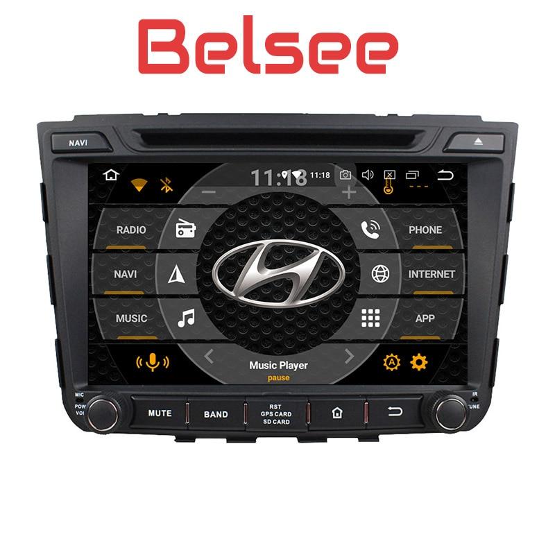 Belsee Android 8.0 Head Unit Car Multimedia System DVD Player for Hyundai IX25 Creta 2014 2015 GPS Navigation Auto Radio Stereo