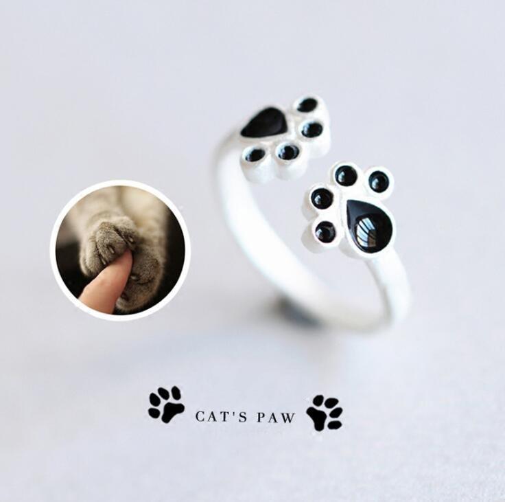 Jisensp New Retro Ring Fashion Fashion Animal Cat Paw - Նորաձև զարդեր - Լուսանկար 2