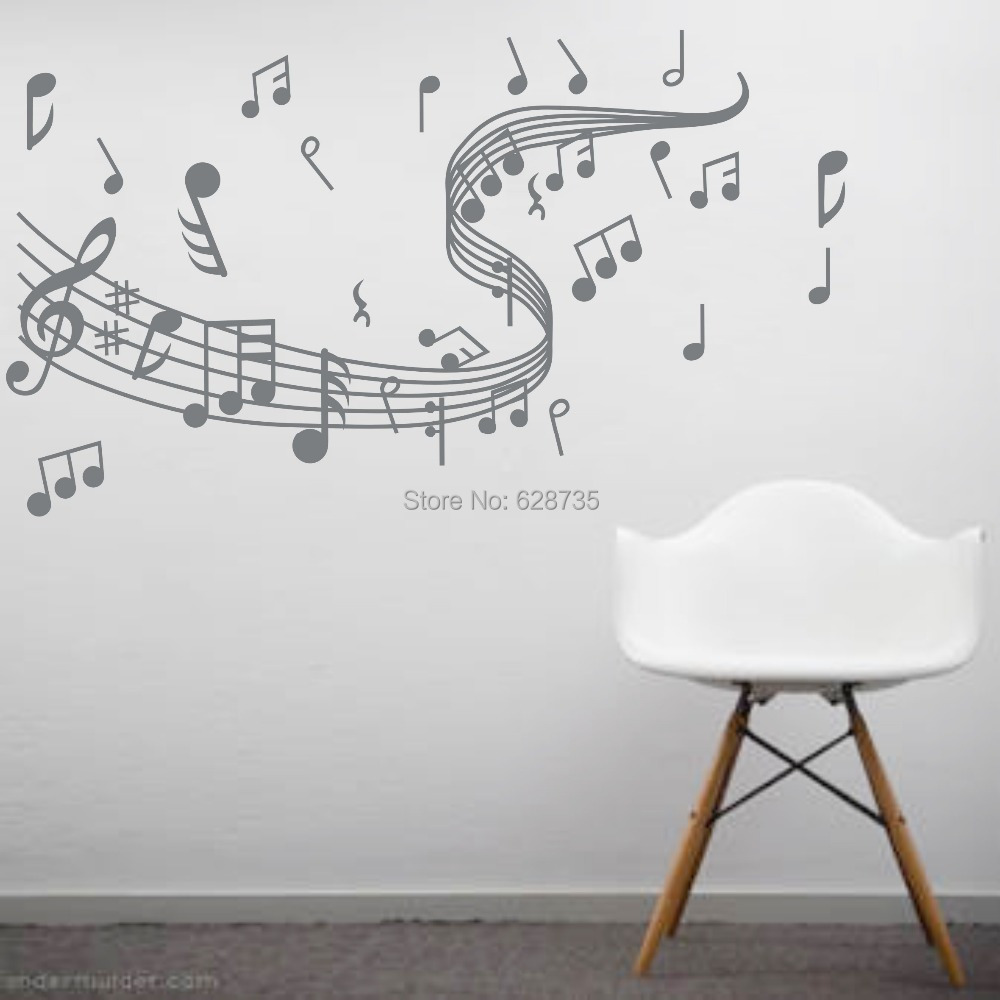 Aliexpress.com : Buy Music Note Wall Stickers , Vinyl Wall Stickers Home  Decor Music , Musical Home Decoration ,Free Shipping W10062 From Reliable  Stickers ... Part 44