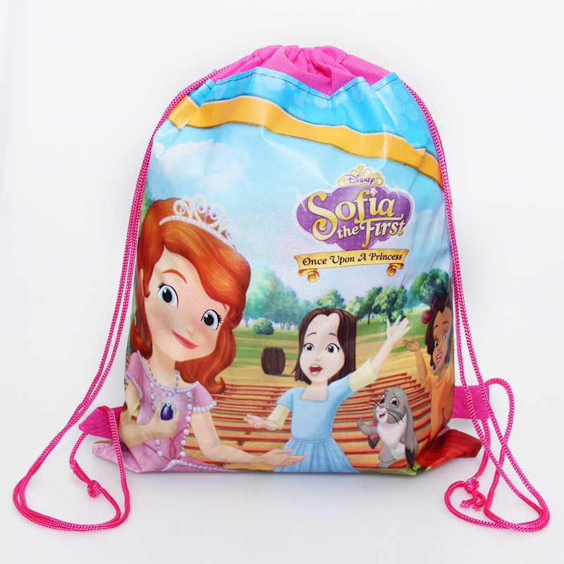 1 ชิ้น/ล็อต Baby Shower ผ้าไม่ทอของขวัญวันเกิด Mickey กระเป๋าเป้สะพายหลังสำหรับเด็ก Favors เด็กของขวัญกระเป๋า