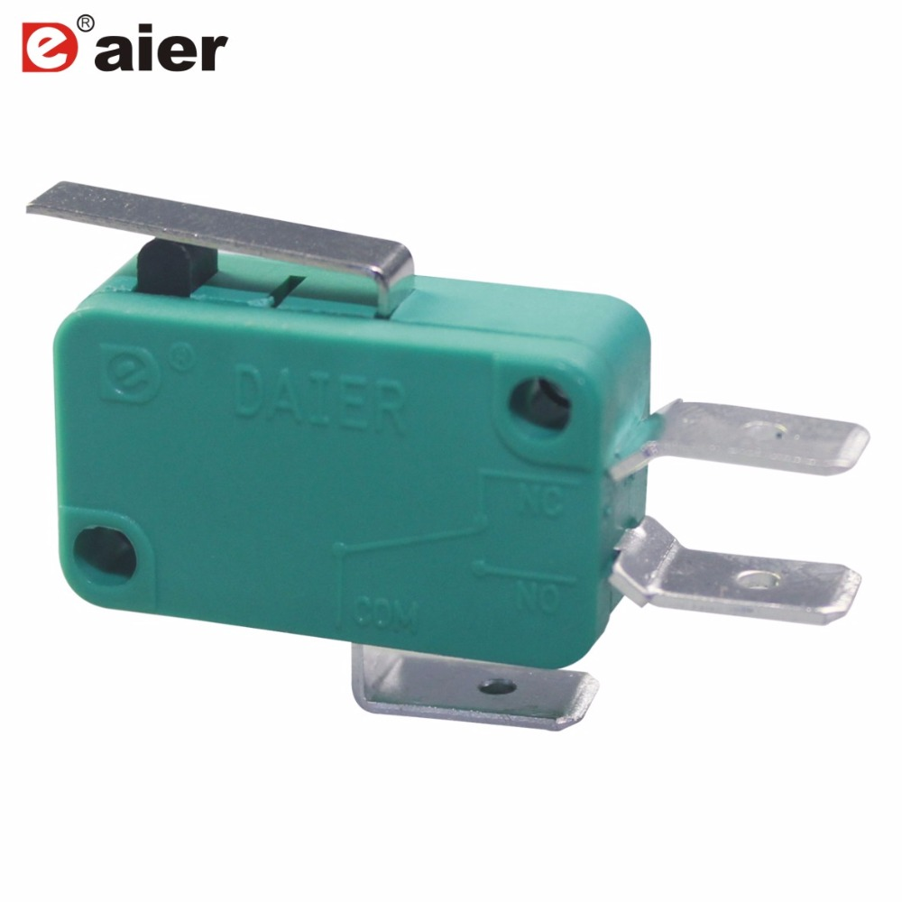 10pcs/lot Micro Limit Switch Short Straight Hinge Lever Arm Spdt Green Switches 16a 250vac With 6.35x0.8mm Terminal Snap Action With A Long Standing Reputation Lighting Accessories