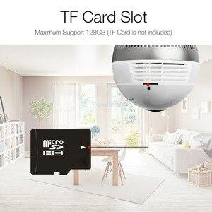 Image 5 - 960P 1080P 3MP 5MP Lampe Licht Wireless IP Kamera Wi Fi FishEye 360 Grad CCTV 3D VR Kamera 1.3MP home Security WiFi Kamera