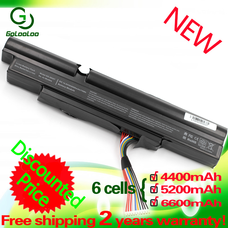 Golooloo 4400MaH Laptop battery for <font><b>Acer</b></font> Aspire TimelineX 3830TG 3830T 4830T 5830T 5830TG <font><b>4830TG</b></font> 3INR18/65-2 AS11A3E AS11A5E image