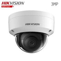히크 비전 원래 H.265 영어 매우 낮은 조명 IP 카메라 DS-2CD2135FWD-IS 3MP 미니 돔 CCTV 보안 카메라 오디오 H.265 IP67