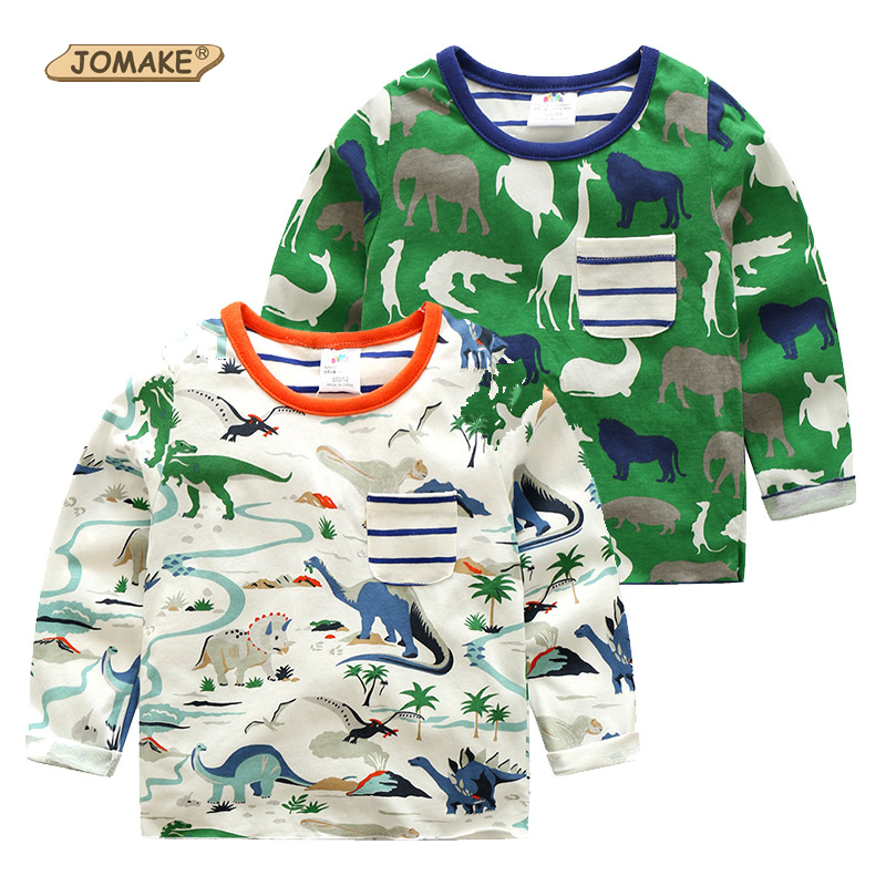 Boys T Shirt Spring Cartoon Animals Baby Boy T-shirts Pokemon Boys Clothes European Style Clothing Kids T-shirt Children Tops