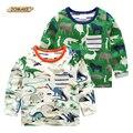 Camiseta de los muchachos de Primavera de Dibujos Animados de Animales Bebé Camisetas Pokemon Niños Ropa Niños Ropa De Estilo Europeo Camiseta Tapas de Los Niños