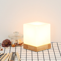 Wood Led Decorative Small Table Lamp E27 Table Lamps For Bedroom Lamparas De Mesa Wooden LED Decorative Night Light
