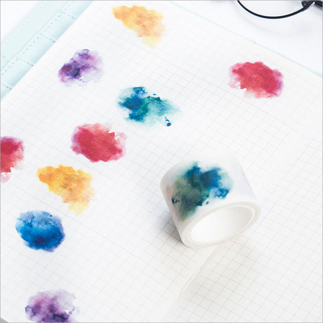 30mmx7m Kawaii Watercolor Blooming Paper Tape Diy Washi Tape