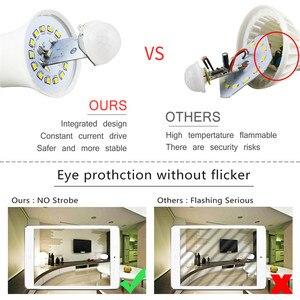 Image 5 - E27 B22 Smart Led lampen Licht 220V 110V motion Sensor 12W 18W LED Lampe Körper induktion auto turn on/off mit PIR motion detection