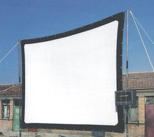 Factory sales 100inch 16:9 Projector HD Screen Portable Folded Front projection screen fabric with eyelets without Frame