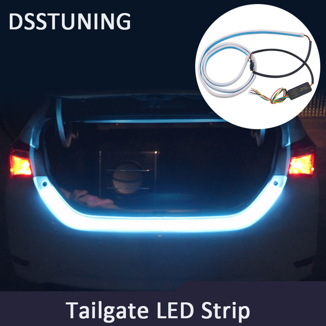 Flexible tailgate led strip light bar reverse brake turn signal flexible tailgate led strip light bar reverse brake turn signal tail ice blue red yellow flash mozeypictures Gallery