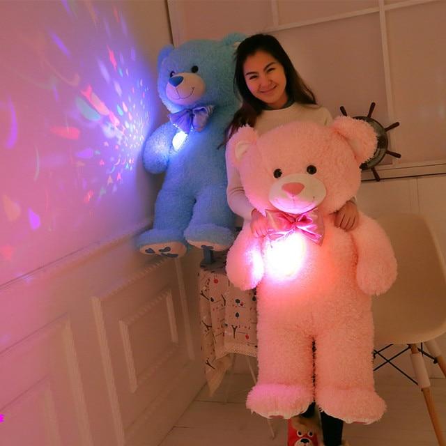 Красочное свечение плюшевых медведей, плюшевые игрушки, светящиеся медведь, водить медведя, творческие подарки на день рождения