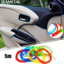 5m Car Styling Flexible Interior Internal Decoration Moulding Trim Decorative Strips Line DIY 3D Stickers on
