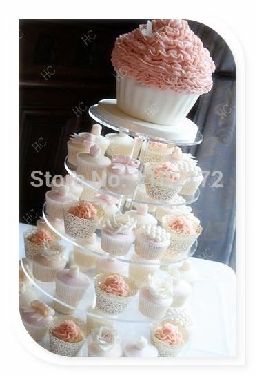 Storey 15 cm New Maypole Clear Acrylic Wedding Cupcake Stand, 5 Tier ...