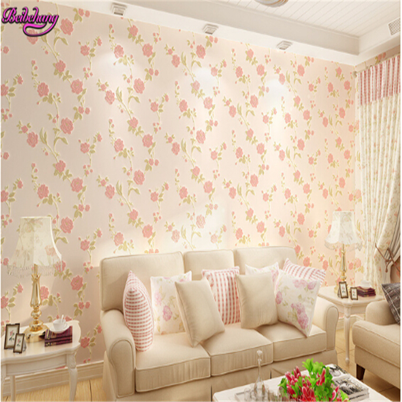 beibehang wall paper  fine pressure non woven wallpaper Korean pastoral warm living room full bedroom wallpaper papel de parede beibehang papel de parede wall paper warm living room bedroom full shop wallpaper nonwoven coining stereoscopic 3d pastoral wall