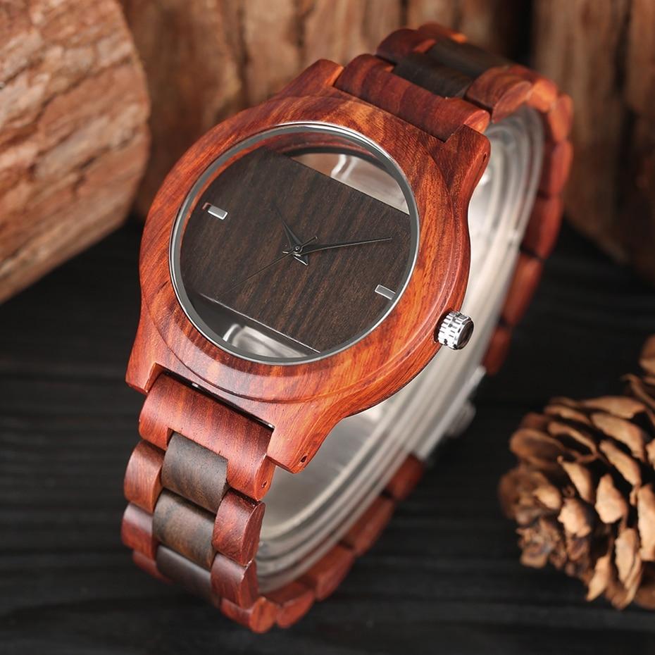 Top Luxury Full Bamboo Wood Quartz Watch Mens Hollow Analog Handmade Bracelet Sports Wristwatch Male Simple reloj de hombre 2017 2018 Gifts (8)