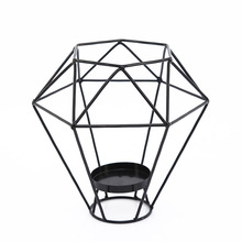1PC Geometric Candlestick Nordic Minimalist Style Ornaments Wall Sconce Matching Steel Small Tealight Candle Holders MK 038