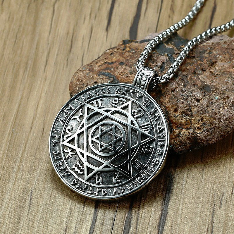 Talisman Hexagram Solomon Amulet Pendant Necklace Kabbalah