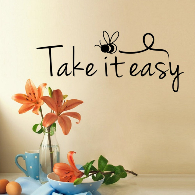 Aliexpress Com Buy Take It Easy Quotes Wall Stickers