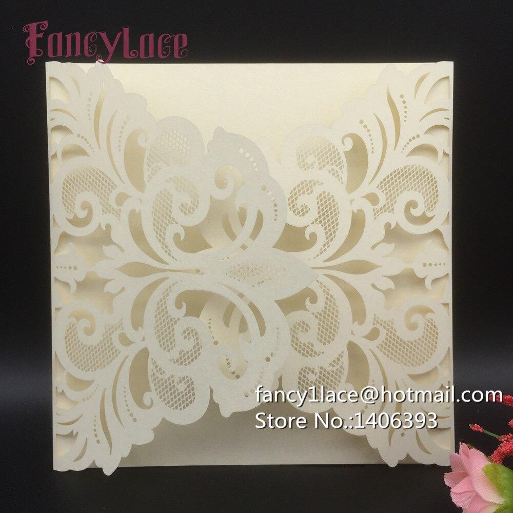Hot 10Pcs Fancy Lace Laser Cut Customizable Business Card Party ...