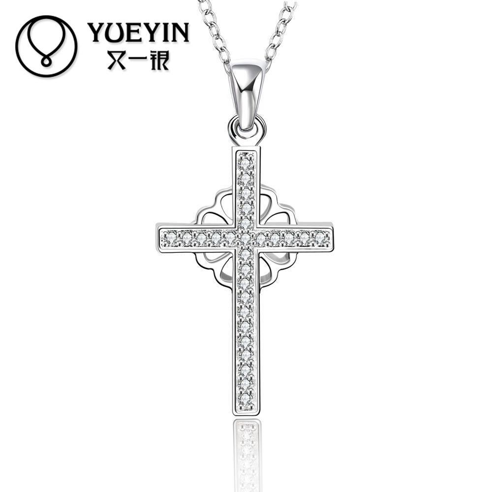 Valentines Gift Silver Metal Geometry Crystal Pendant