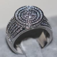 Majestic Sensation Jewelry Women Men Ring Pave Set 240pcs Simulated Diamond Cz 925 Sterling Silver Engagement