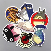 TD ZW 6 Pcs/lot Totoro Cute Sticker Decal For Phone Car Laptop Bicycle Notebook Backpack Case Waterproof Kids Toy Stickers
