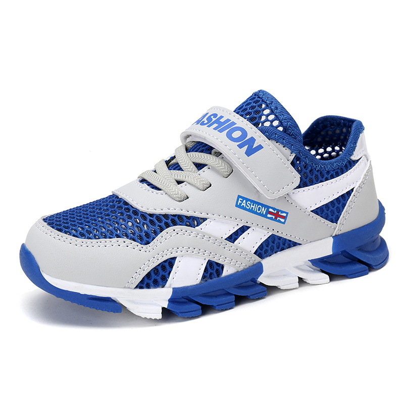 Mesh Breathable Kids Sneakers For Boys Shoes Kid Shoes Children Boys Sport School Running Shoes 28 30 31 32 33 34 35 36 37 39 цена