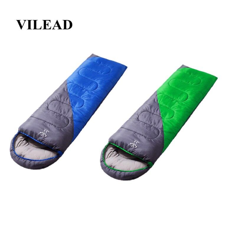 VILEAD 2 Colors Envelope type Ultralight Sleeping Bag Hiking Camping Stuff Adult Quilt Lightweight Portable Waterproof Summer-in Sleeping Bags from Sports & Entertainment