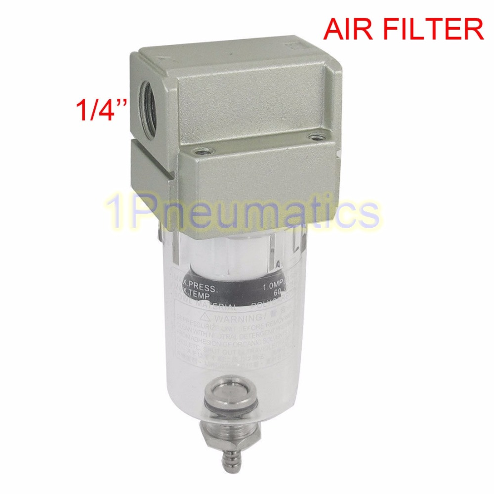 Free Shipping AF2000-02 Compressor Pressure Regulator Pneumatic Air Filter 1/4 Inch Ports Female 13mm male thread pressure relief valve for air compressor