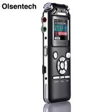 Digital Voice Recorder Double Microphones Intelligent Noise Reduction  Audio Sound Recorder USB Rechargeable 8GB Memory Mp3 WMV