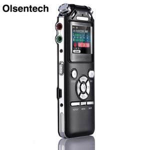 Image 1 - Grabadora de voz Digital con micrófonos dobles, grabadora de sonido inteligente con reducción de ruido, memoria USB recargable de 8GB, Mp3 y WMV