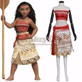 2016 Movie Moana Cosplay Costume Moana Waialiki Adult Women/Girls Cosplay Princess Dress For Halloween Custom Made