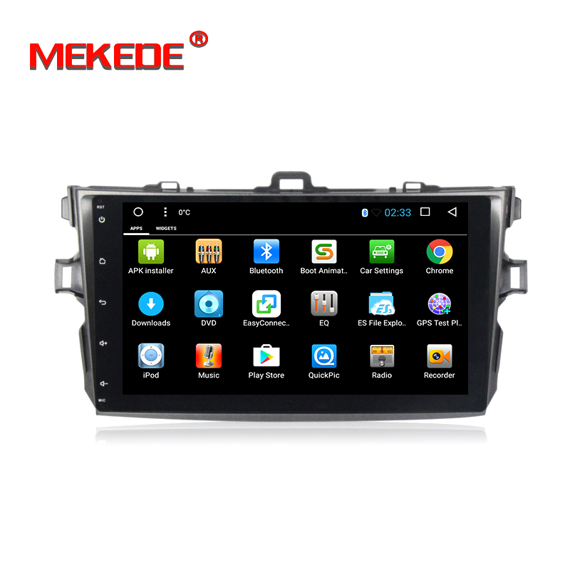 Quad Core 1024*600 2 din car multimedia system Android 7.1 for TOYOTA COROLLA 2006-2011 Car DVD Player Navigation GPS Radio