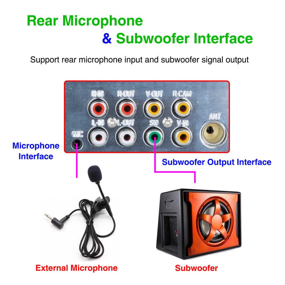 "Podofo RDS カーラジオ 4.1 ""タッチスクリーンマルチメディア MP5 プレーヤーラジオ Bluetooth サポート Micophone とリアビューカメラカメラ"
