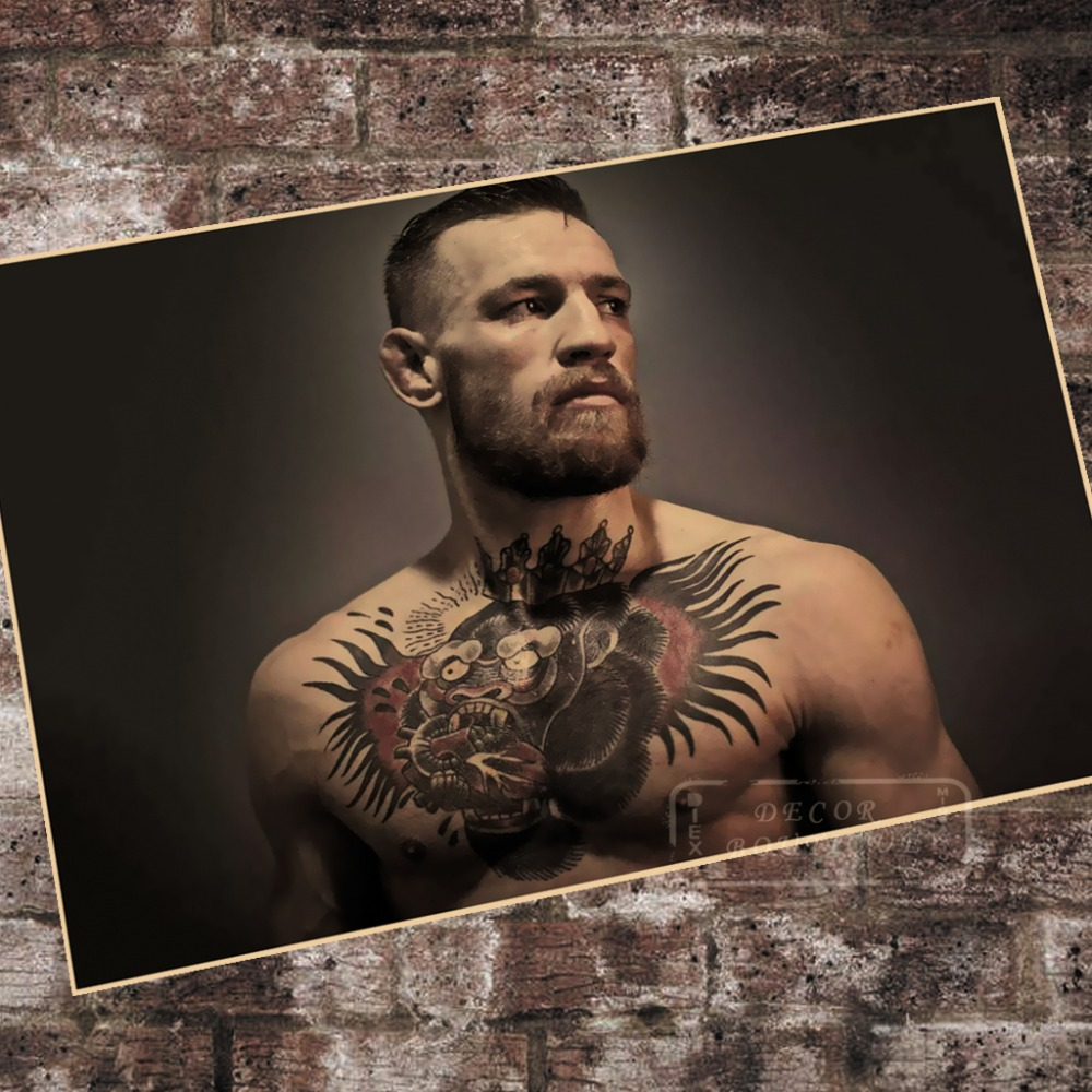 Us 314 21 Offtattoo Cool Conor Mcgregor Boxing Sports Art Retro Vintage Decorative Poster Diy Wall Paper Home Posters Home Decor Gift In Wall